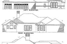 House Plan Design - Traditional Exterior - Rear Elevation Plan #17-585