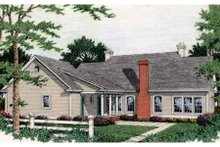 Architectural House Design - Southern Exterior - Rear Elevation Plan #406-110