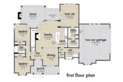 Farmhouse Style House Plan - 3 Beds 2 Baths 1486 Sq/Ft Plan #120-262 Floor Plan - Main Floor Plan