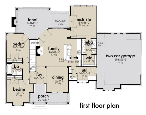 Farmhouse Floor Plan - Main Floor Plan Plan #120-262