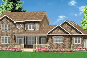 Traditional Exterior - Front Elevation Plan #414-132
