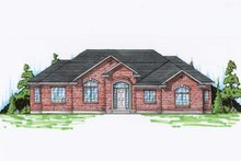 Ranch Exterior - Front Elevation Plan #5-242