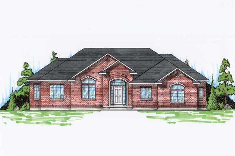 Dream House Plan - Ranch Exterior - Front Elevation Plan #5-242