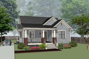 Farmhouse Exterior - Front Elevation Plan #79-232