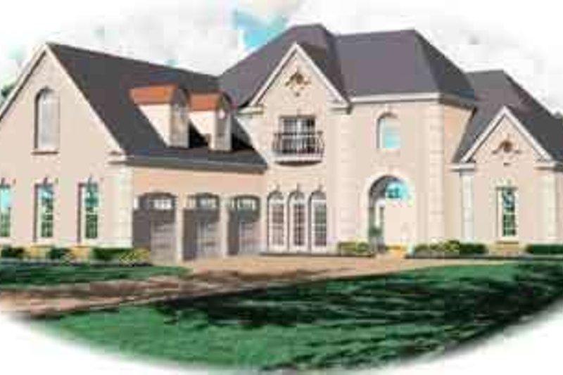 European Style House Plan - 4 Beds 3 Baths 3672 Sq/Ft Plan #81-598