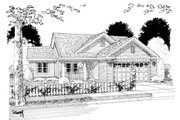 Traditional Style House Plan - 2 Beds 2 Baths 892 Sq/Ft Plan #513-2053 Exterior - Other Elevation