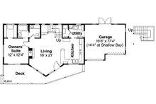 Contemporary Floor Plan - Main Floor Plan Plan #124-874