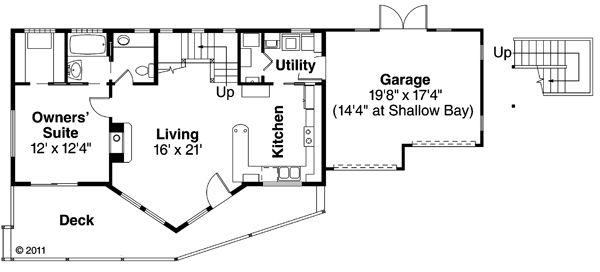 House Plan Design - Contemporary Floor Plan - Main Floor Plan #124-874