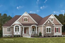 Dream House Plan - European Exterior - Front Elevation Plan #929-27