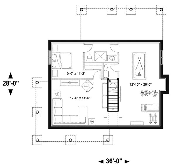 House Plan Design - Unfinished Basement