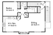 Traditional Style House Plan - 1 Beds 1 Baths 949 Sq/Ft Plan #22-402