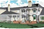 European Style House Plan - 5 Beds 4.5 Baths 7489 Sq/Ft Plan #81-413 Exterior - Rear Elevation