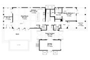 Beach Style House Plan - 5 Beds 5.5 Baths 3480 Sq/Ft Plan #443-15 Floor Plan - Main Floor Plan