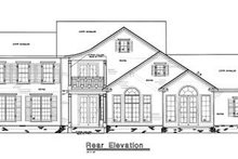 Colonial Exterior - Rear Elevation Plan #20-1103