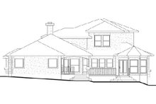 Dream House Plan - Traditional Exterior - Rear Elevation Plan #80-170