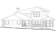 House Plan Design - Traditional Exterior - Rear Elevation Plan #80-170