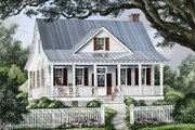 Country Style House Plan - 3 Beds 2.5 Baths 1738 Sq/Ft Plan #137-262 Exterior - Front Elevation