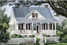 Architectural House Design - Front view - 1740 square foot cottage home