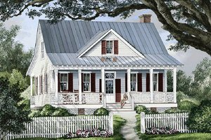 House Plan Design - Front view - 1740 square foot cottage home