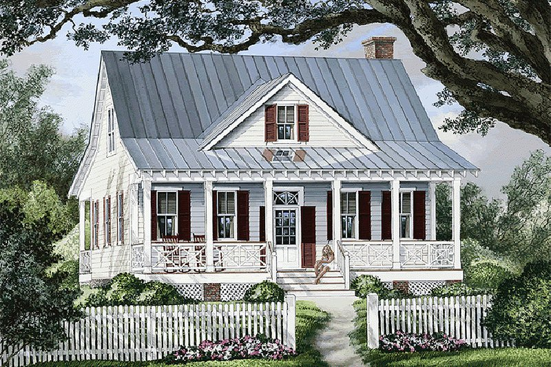 Country Style House Plan - 3 Beds 2.5 Baths 1738 Sq/Ft Plan #137-262