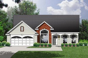 House Plan Design - Traditional Exterior - Front Elevation Plan #40-116