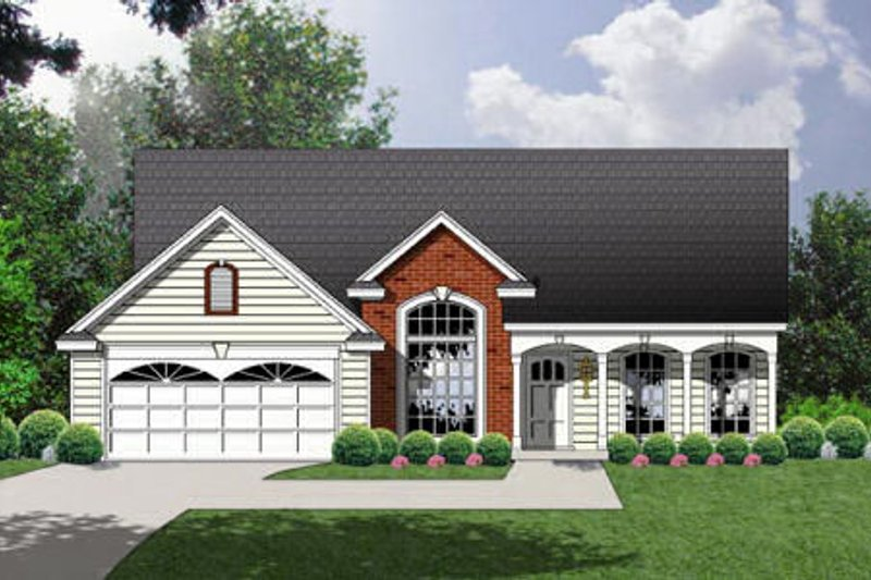 Traditional Exterior - Front Elevation Plan #40-116 - Houseplans.com