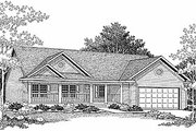 Traditional Style House Plan - 3 Beds 2 Baths 1342 Sq/Ft Plan #70-114 Exterior - Front Elevation