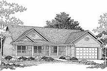 Dream House Plan - Traditional Exterior - Front Elevation Plan #70-114