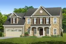 Home Plan - Colonial Exterior - Front Elevation Plan #1010-209