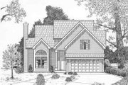 Traditional Style House Plan - 3 Beds 2.5 Baths 1376 Sq/Ft Plan #6-111