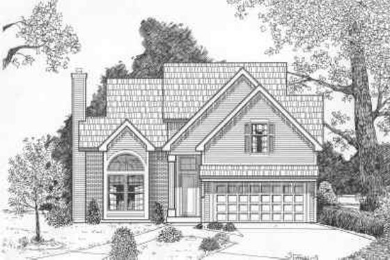 Traditional Exterior - Front Elevation Plan #6-111