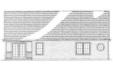 House Blueprint - Ranch Exterior - Rear Elevation Plan #72-223