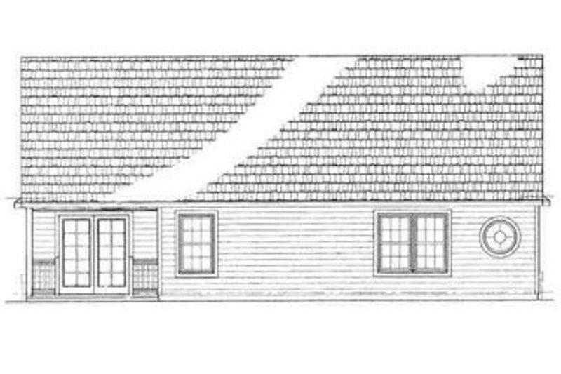 Ranch Exterior - Rear Elevation Plan #72-223 - Houseplans.com