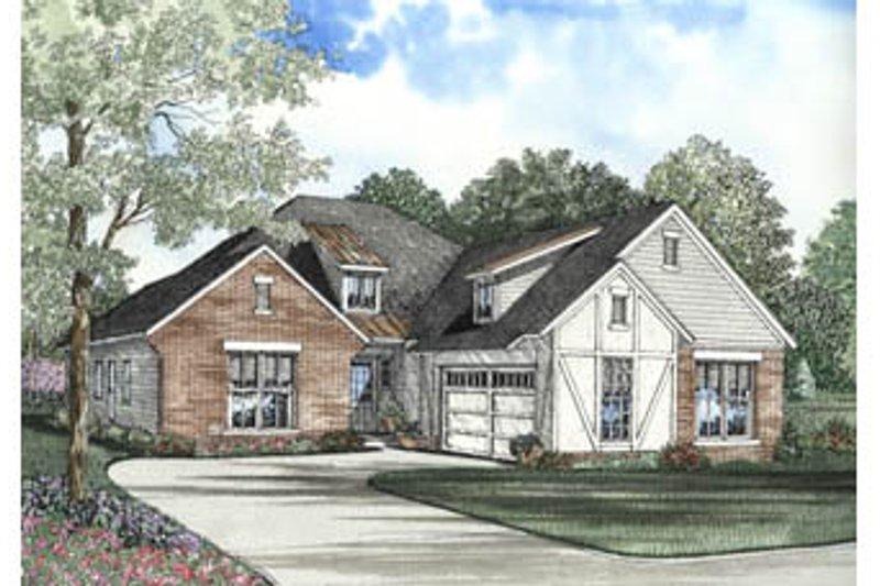 House Plan Design - Tudor Exterior - Front Elevation Plan #17-1146