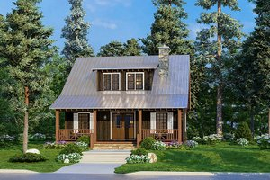Country Exterior - Front Elevation Plan #923-219
