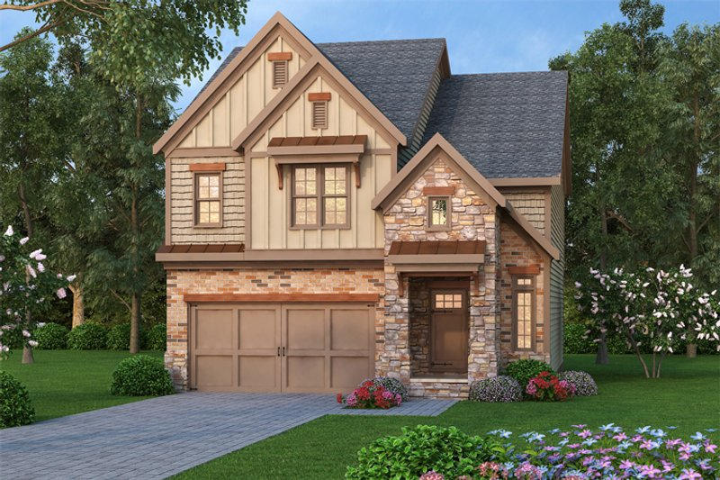 Traditional Style House Plan - 3 Beds 2.5 Baths 2138 Sq/Ft Plan #419-255 Exterior - Front Elevation