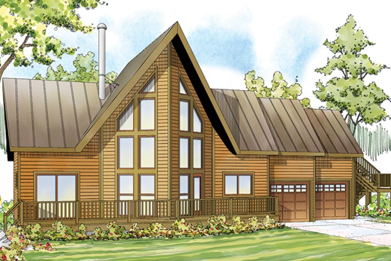Home Plan - Contemporary Exterior - Front Elevation Plan #124-874