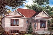 Traditional Style House Plan - 3 Beds 2 Baths 982 Sq/Ft Plan #138-184 Exterior - Front Elevation