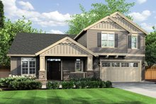 Dream House Plan - Front View - 2300 square foot Craftsman Home