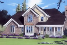 Southern Exterior - Front Elevation Plan #46-354