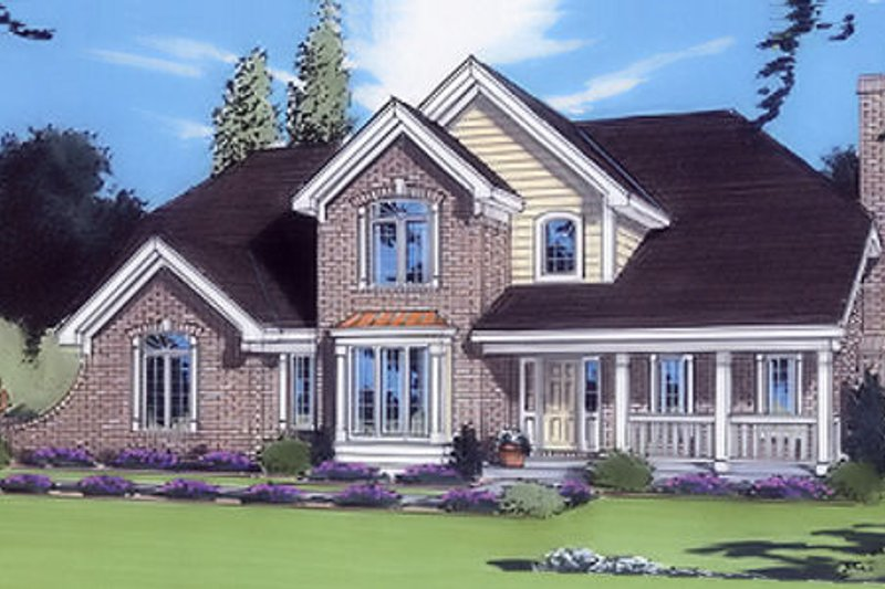 Southern Exterior - Front Elevation Plan #46-354 - Houseplans.com