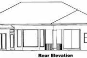 Mediterranean Style House Plan - 3 Beds 3 Baths 3154 Sq/Ft Plan #27-101 Exterior - Rear Elevation
