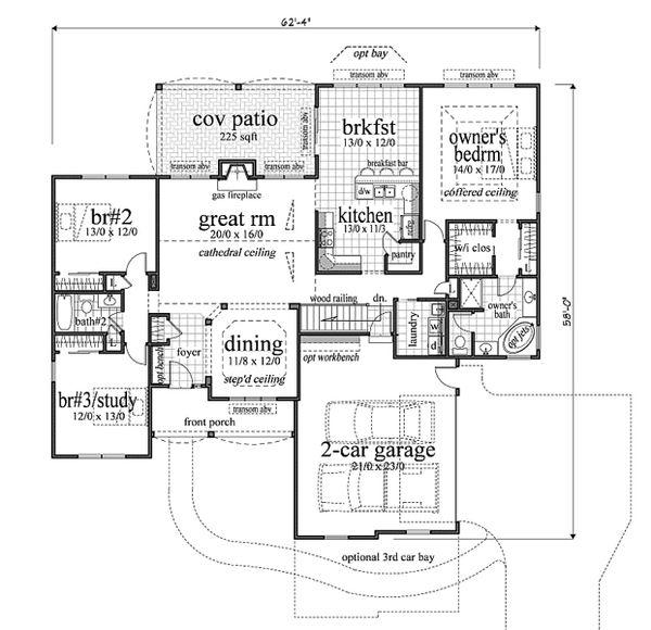Traditional Floor Plan - Main Floor Plan #459-2