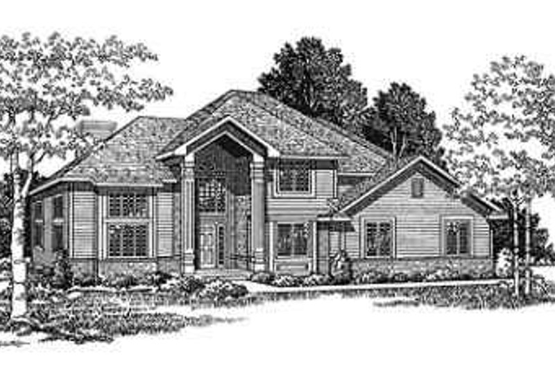 Traditional Exterior - Front Elevation Plan #70-333
