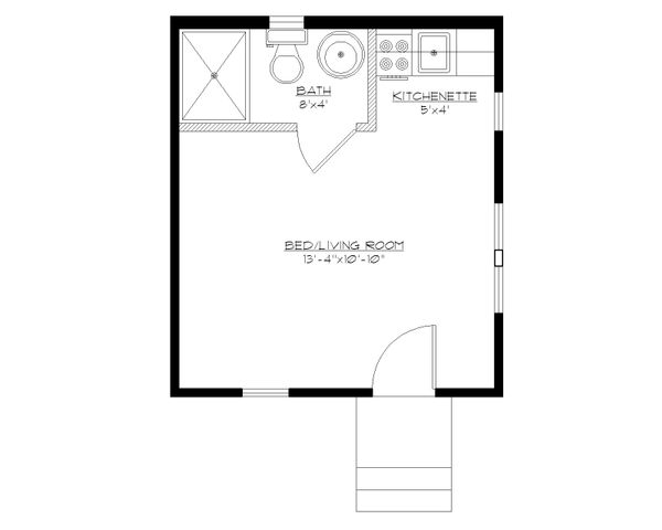 Craftsman Floor Plan - Main Floor Plan Plan #922-4