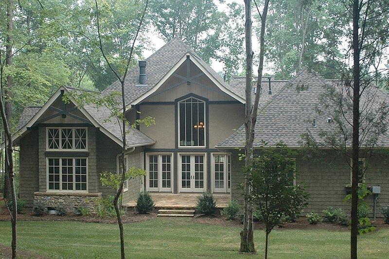 Craftsman Exterior - Rear Elevation Plan #413-130 - Houseplans.com