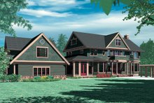 Architectural House Design - Colonial Exterior - Rear Elevation Plan #48-151