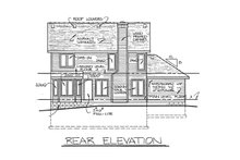 House Plan Design - Traditional Exterior - Rear Elevation Plan #20-2013