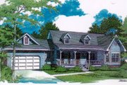 Traditional Style House Plan - 3 Beds 2.5 Baths 1648 Sq/Ft Plan #14-123 Exterior - Front Elevation
