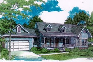 Home Plan - Traditional Exterior - Front Elevation Plan #14-123